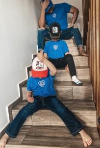 Olza king blue utcai gyerek póló
