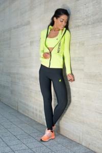 IRIS Lime női fitnesz sport cipzáros felső