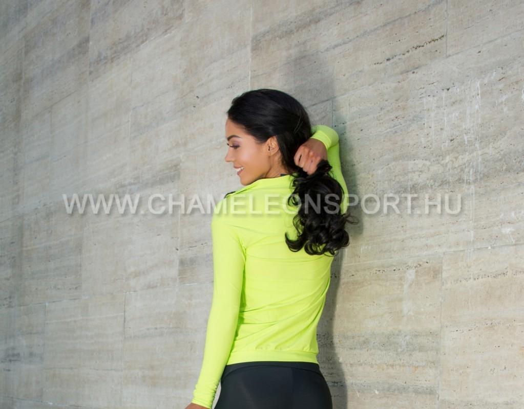 ... IRIS Lime női fitnesz sport cipzáros felső fa595faad8