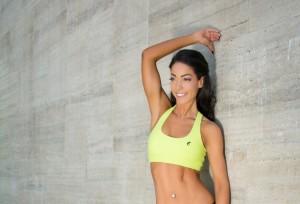 NELLY Lime fitnesz sportmelltartó