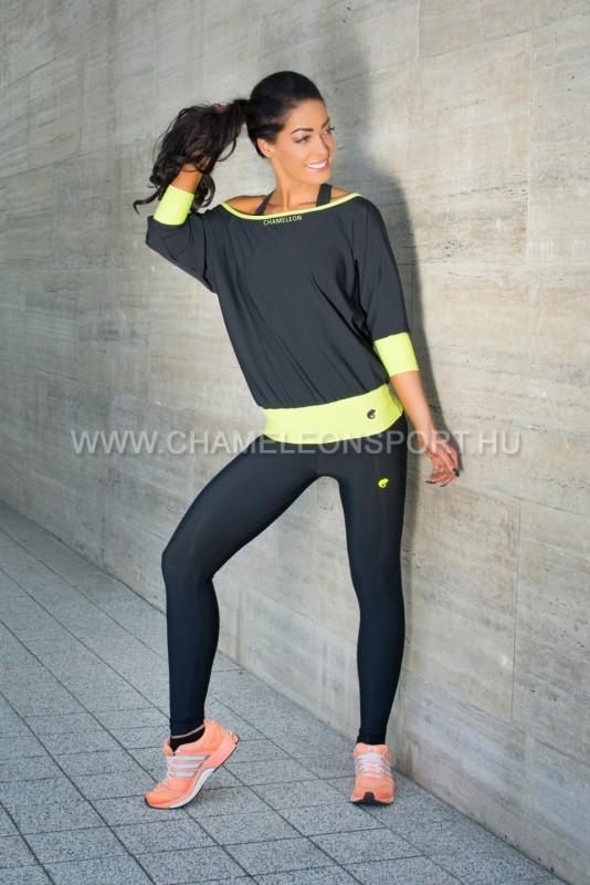 CSENGE női fitnesz dance ejtett vállú felső  369b60733a