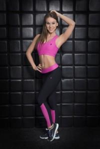 Asia pink sportmelltartó